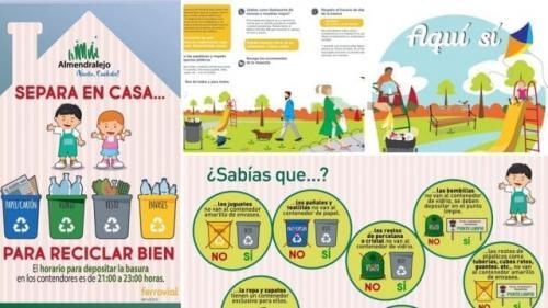 Aumentan los datos del reciclaje domiciliario en Almendralejo
